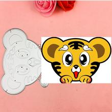 Hot Tigers head Metal Cutting Dies Stencils for DIY Scrapbooking Stamp/photo album Decorative Embossing DIY Paper Cards