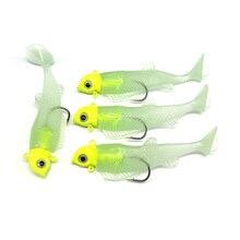 5pcs Wobbler Jig Head metal lure soft bait Luminous body fishing lure crankbait Silicone bait isca artificial size 8.5g/16g