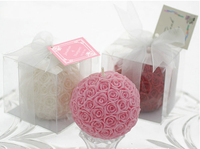 Colour Romance Pink Rose Ball Candles Creative Valentine's Day Smokeless Art Candle Large Wedding Candle Rose Kit Free Shipping