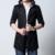 2017 Moda puls tamaño 5XL de los hombres gabardina larga outwear masculina ropa slim fit negro y de color caqui del Envío libre