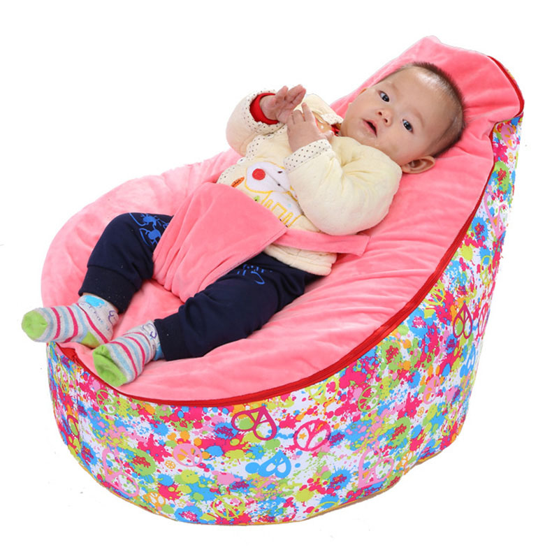 Baby Bean Bag Chair Comfy Baby Lounge Chair Living Room Furniture Sleeping Beanbag Lazy Sofa Multifunctional Baby Sofa  free shipping baby bean bag with 2pcs black up cover baby beanbag baby chair baby seat cover bean bag covers only