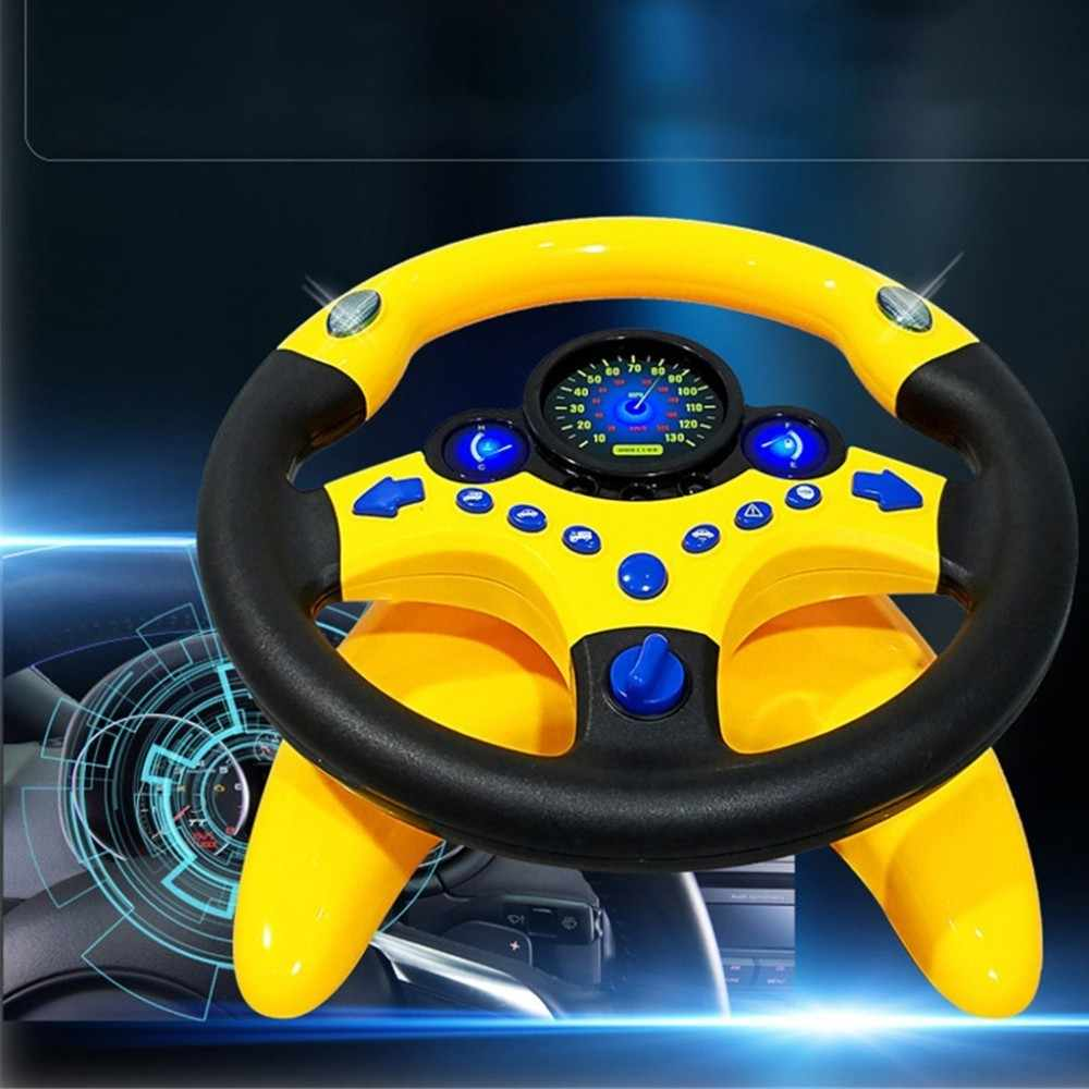 Light Musical steering wheel for children Educational Toys Simulation Steering Wheel Electronic Vocal Toy for Kind Birthday Gift