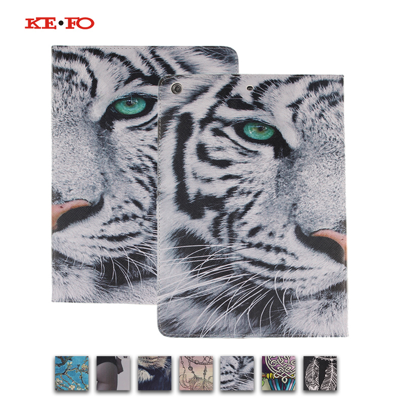 For Apple iPad Mini Case Tiger pattern Leather cover For ipad Mini 1 2 3 tablet with card slot funda For ipad mini for ipad mini