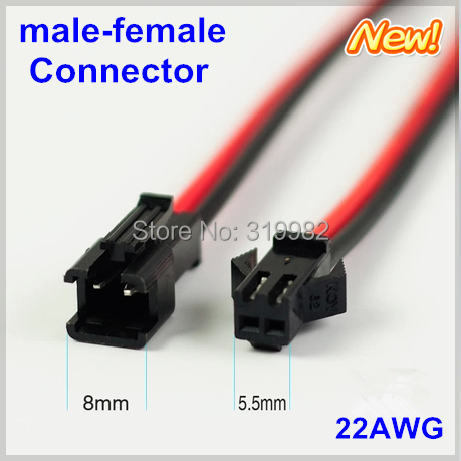5 Pair 2Pin Male/&Female Plug Terminal Connector Cable Wire Power for LED Light