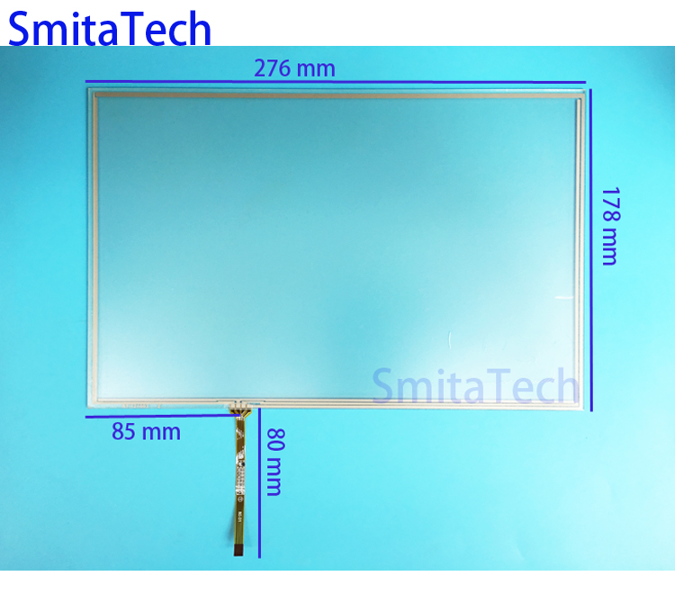 12.1'' inch ST-121003 276x178mm 4wire Resistive Touch screen Digitizer panel 178mm*276mm new 5 inch 4wire resistive touch panel digitizer screen for prestigio geovision 5200 5200bt gps free shipping