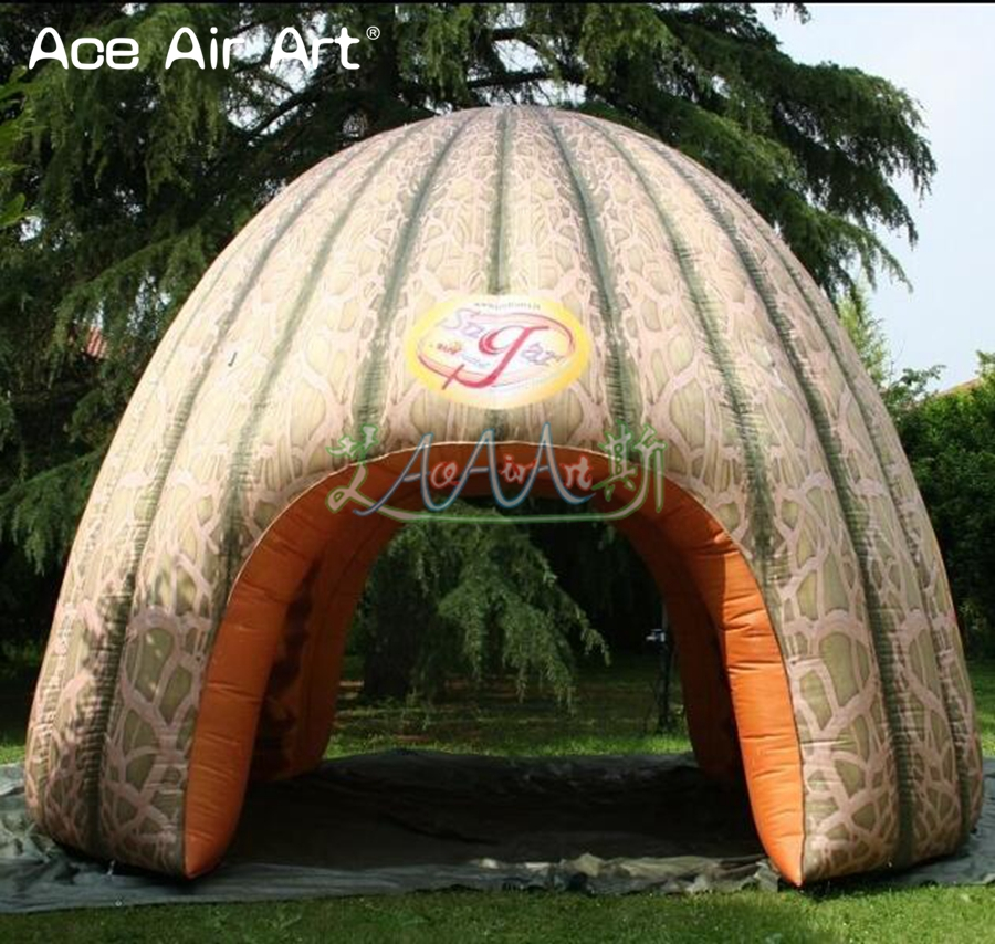 Toys & Hobbies Toy Tents All Printing Canopy Tunnel Tent Inflatable Hami Melon Shaped Dome Tent,half Melon Replica Stall Vendor Booth For Promotion