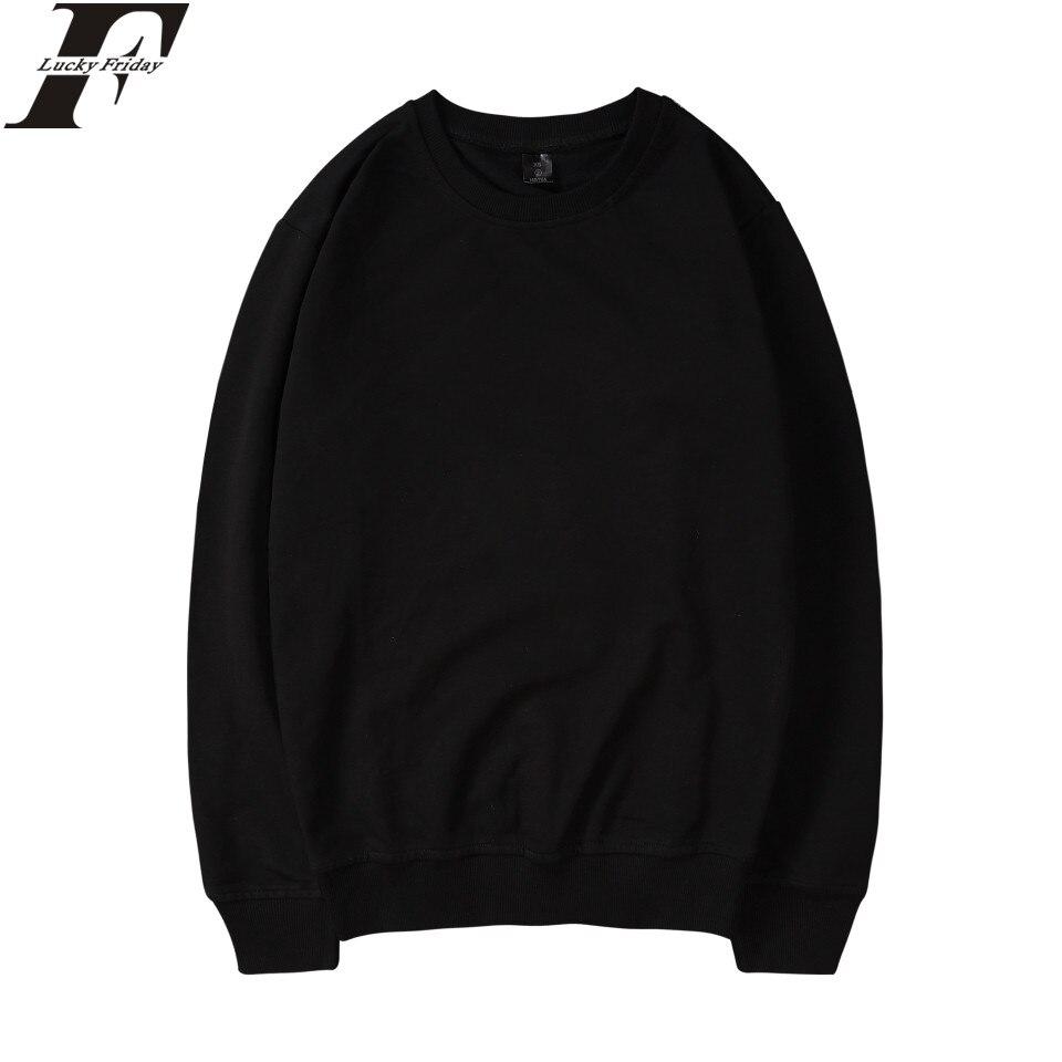 LUCKYFRIDAYF Harajuku Solid Color Hoodies Fashion Cotton Men/Women Long Sleeve Hoodies StreetWear Sweatshirt Plus Size Kpop