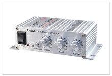 LP-268 Mini 12V car amplifier car hi-fi subwoofer amplifier Household Amplifier mp3 2 channel output amplifier
