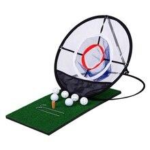 Heißer Golf Chipping Praxis Net Golf Indoor Outdoor Chipping Pitching Käfige Matten Praxis Einfach Net Golf Training Aids