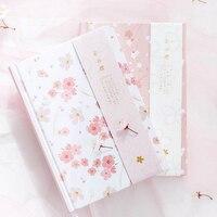 2018 Caderno A5 Japonês Kawaii Bonito Sakura Flor Leiteiras Planejador Mensal Planejador Semanal Colorido Linha de Grade Dot Página Em Branco