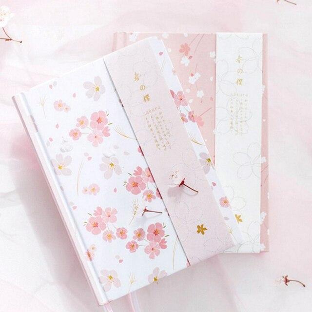 2018 notebook a5 japanese kawaii cute sakura flower planner dairy