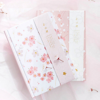 2018 Notebook A5 Japanese Kawaii Cute Sakura Flower Planner Dairy Monthly Weekly Planner Colorful Blank Line