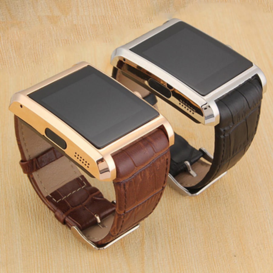 Fashionable Smart Watches F8 Leather font b Smartwatch b font Montre Homme Bluetooth Android Phone Sync