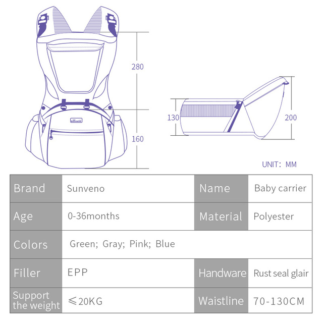 Sunveno Brand Ergonomic Baby Carrier