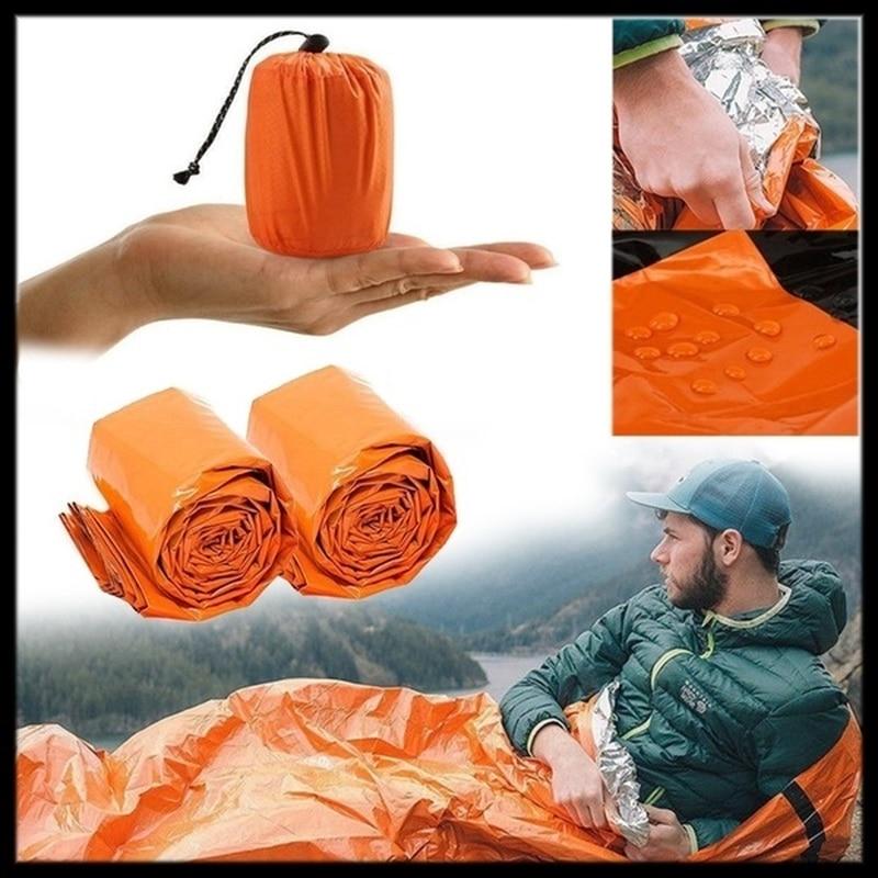 Outdoor Emergency Survival Sleeping Bag Portable Waterproof Reusable Blanket Camping Hiking Survival Rescue Thermal Blanket