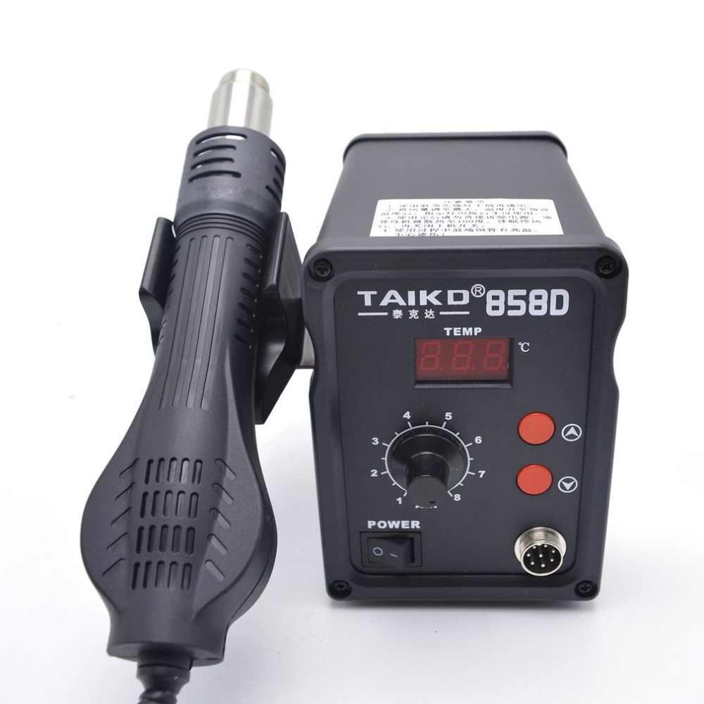 Новый 220 В 450 Вт 858D паяльная станция светодио дный цифровой припой распайки паяльная станция Температура Регулируемая фена
