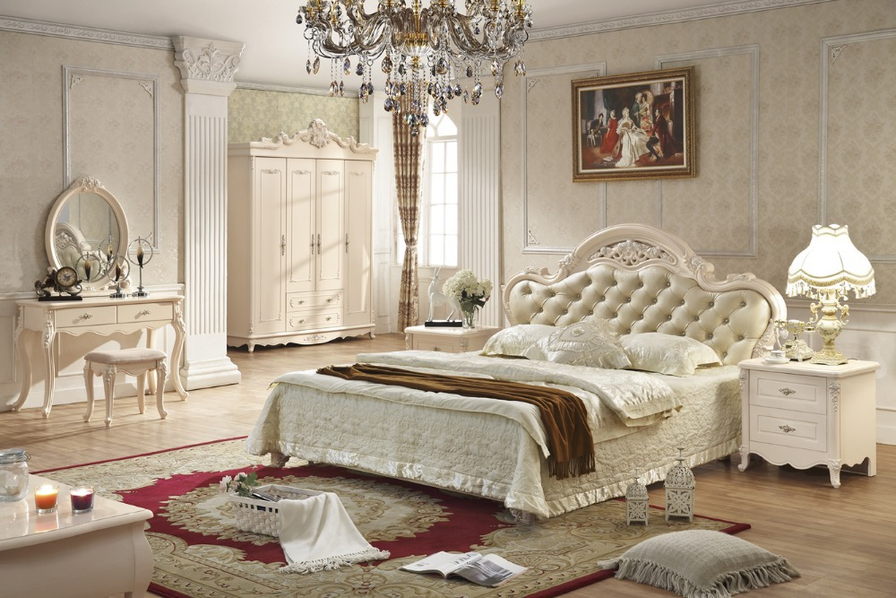 Antique style french furniture elegant bedroom sets py 6012-in Beds ...