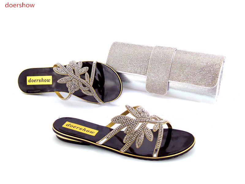 doershow Italian Shoes with Matching Bags for Woman Women Shoe and Bag To Match for Paeties Nigerian Shoes and Bag Sets!HZO1-15 african style nicelooking italian matching shoes and bag set ladies shoes and bag to match for nigerian wedding doershow wtt1 22