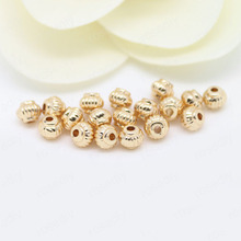 10PCS 5x4MM 24K Champagne Gold Color Plated Brass Lantern Spacer Beads High Quality Diy Jewelry Accessories