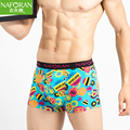 Brand Cartton Print Boxer Shorts Men Underwear 2 Pcs/lot Cotton Boxers Male Panties Pattern Underpants Cueca Calzoncillos Hombre