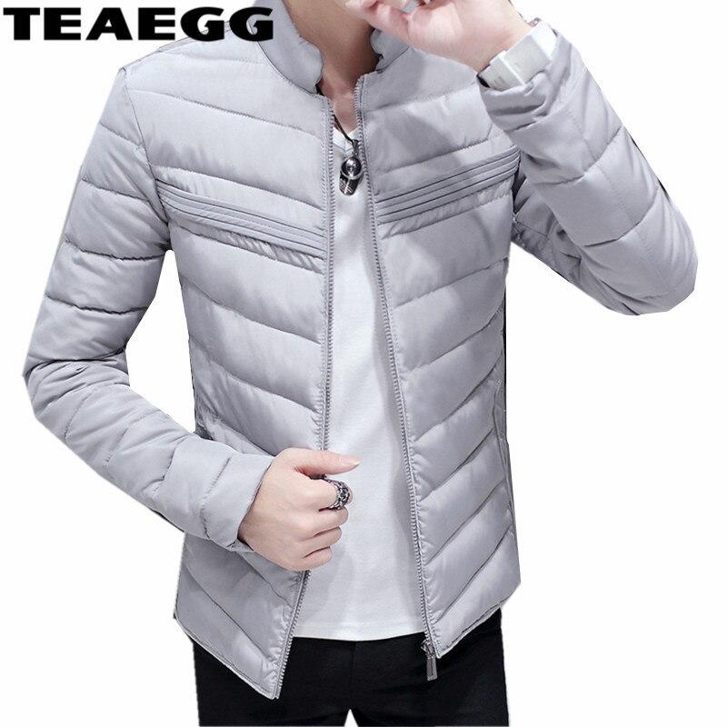 € 88.94 |TEAEGG gris 2019 Homme Hiver veste coton rembourré chaud Hiver vestes hommes vêtement d'extérieur parka Blouson Homme Hiver grande taille 3XL