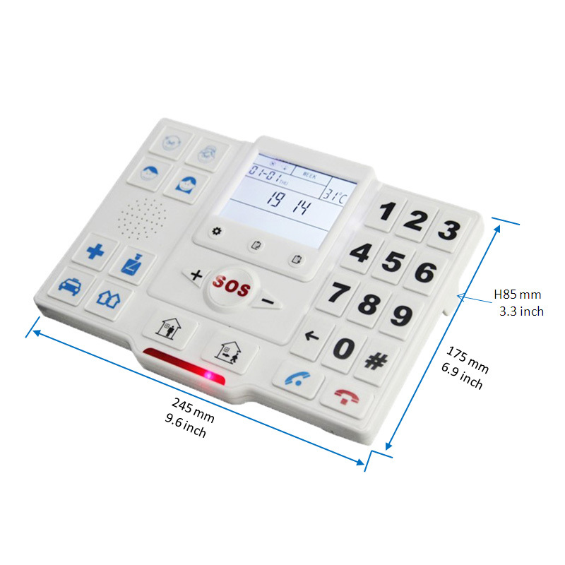 King Pigeon T2A Free Shipping Elder Alarm Wireless GSM SMS Home Security Alarm System With SOS Button GPRS for Elderly yobangsecurity emergency call system gsm sos button for elderly
