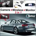 3 в 1 Специальный Wi-Fi Камера + Беспроводной Приемник + Зеркало Монитор легко DIY Заднего Вида Система Парковки Для Audi A6/S6 2010 ~ 2014