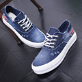 Summer new fashion denim canvas shoes thick crust muffin student woman lazy casual shoes