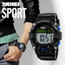 SKMEI 1162 krievu sarunu laiks digitālajiem pulksteņiem vīriešiem elektroniskie LED sporta pulksteņi Modinātājs Militārais modes gadījuma pulkstenis