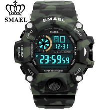 SMAEL Men Sports Watches Shock Military Watch Fashion Camouf