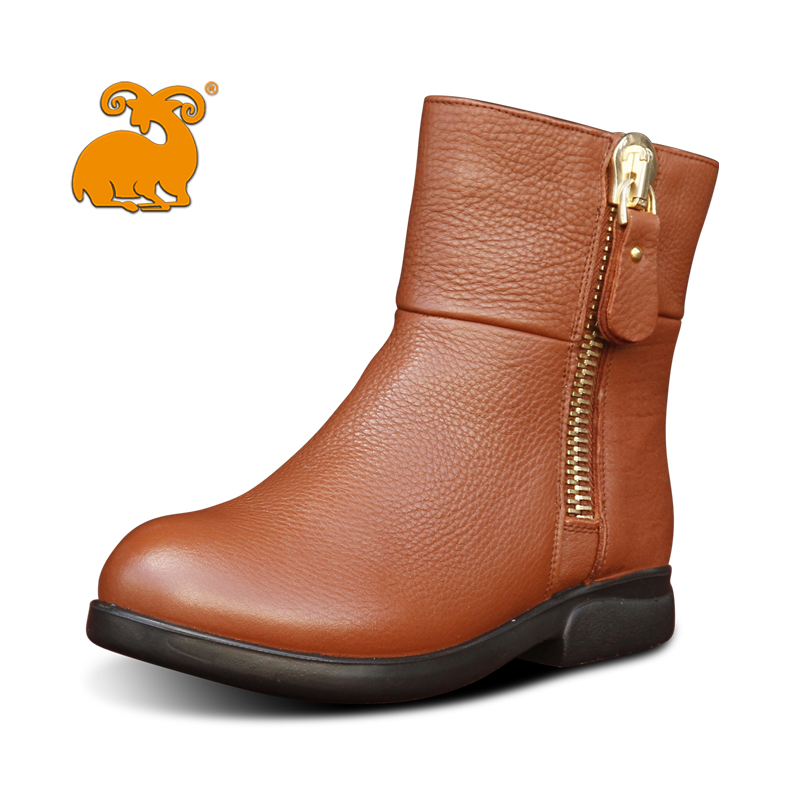 Ram jin pin genuine leather boots women's shoes fashion