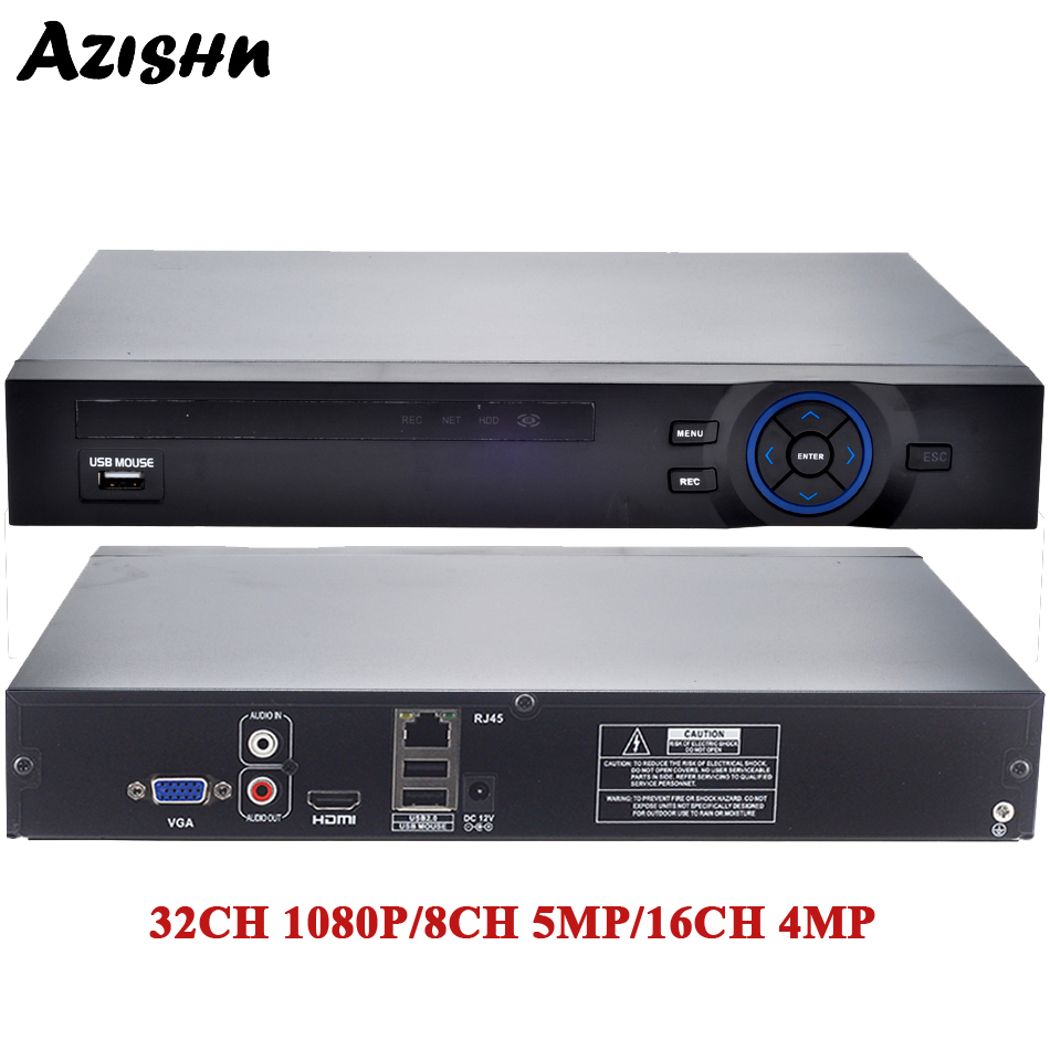 FULL HD 1080P H 265 32CH CCTV NVR 25CH 5MP 8CH 4K NVR 2 SATA HDD