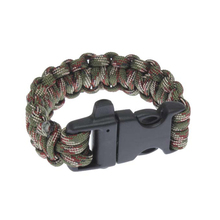 Outdoor Tools Camping & Hiking Military Survival Bracelet Buckle with Whistle Outdoor Camping Kit Tool JC
