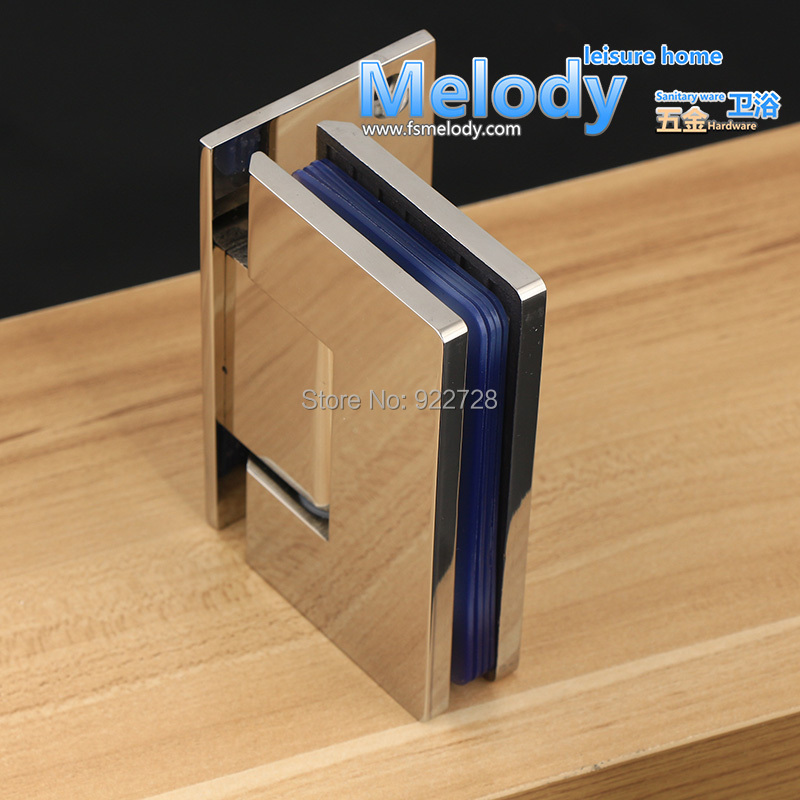 H90S 10 years Warranty Wall to Glass Offset Square Geneva Cutout Frameless Shower screen Door Hinge Polished Chrome-in Door Hinges from Home Improvement on ... & H90S 10 years Warranty Wall to Glass Offset Square Geneva Cutout ... pezcame.com