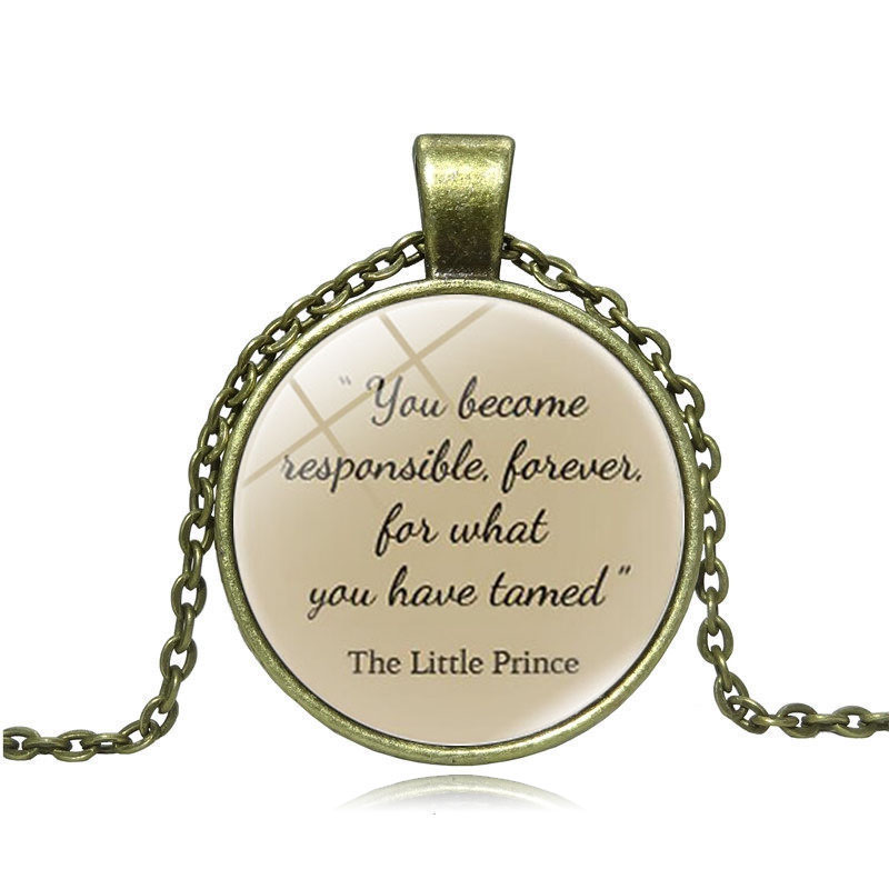 Items Similar To The Little Prince Quote Inspirational: XUSHUI XJ The Little Prince Quote Pendant Necklace