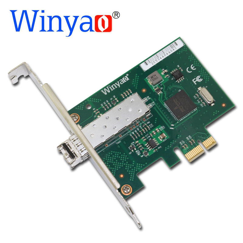 Winyao WY5720DF-SX PCI-Express X1 1000Mbps LC 850nm Gigabit Ethernet Lan Fiber Desktop network card For BCM5720 SFP PCI-E Nic sfp ge sx mm850 a h3c original factory 15 years gigabit multimode fiber module three year warranty