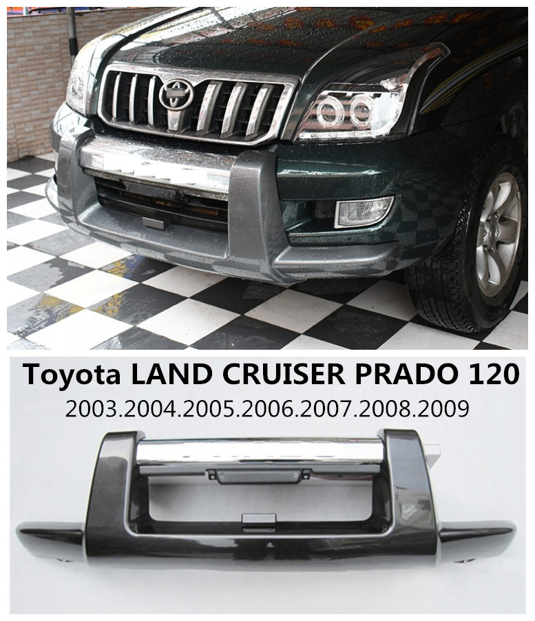 Car Front BUMPER GUARD For Toyota LAND CRUISER PRADO FJ120 2003.2004.2005.2006.2007.2008.2009 High Quality Auto BUMPER Plate|front bumper guard|car front bumper|front bumper - title=