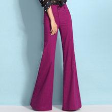 Брюки женские льняные с широкими штанинами модные повседневные