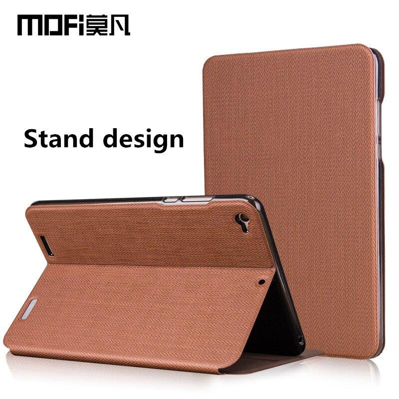 imágenes para Xiaomi mi pad 3 caso de 7.9 pulgadas caso MOFi xiaomi mi pad3 cubierta xiaomi mipad 3 cuero de la tableta de nuevo capas de silicio mipad3 flip caso