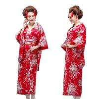 Vintage Japanese Geisha Kimono Yukata Haori Costume Retro Women Dress Cosplay Gown Japanese Kimono Yukata Evening Dress