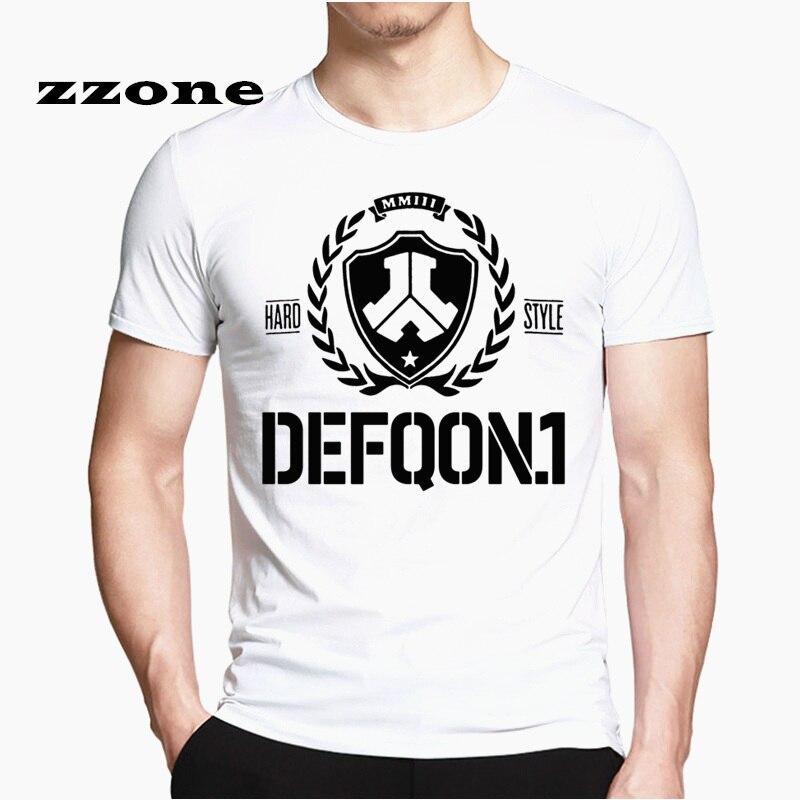 Лето 2019 Defqon 1 чистая дизайнерская футболка мужские футболки хип-хоп Мужская рубашка с коротким рукавом футболки Модная Повседневная футбол...