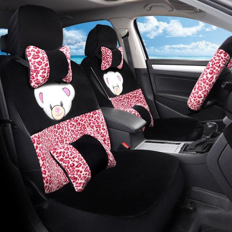 Модный мультяшный чехол для автомобильного сиденья спереди и сзади полный комплект сиденья для автомобилей подушки аксессуары Чехол проте