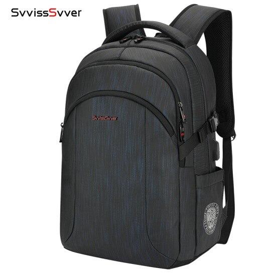 Hommes sac à dos pour ordinateur portable affaires décontracté tendance grande capacité hommes de plein air voyage d'affaires voyage USB chargement mâle sac à dos