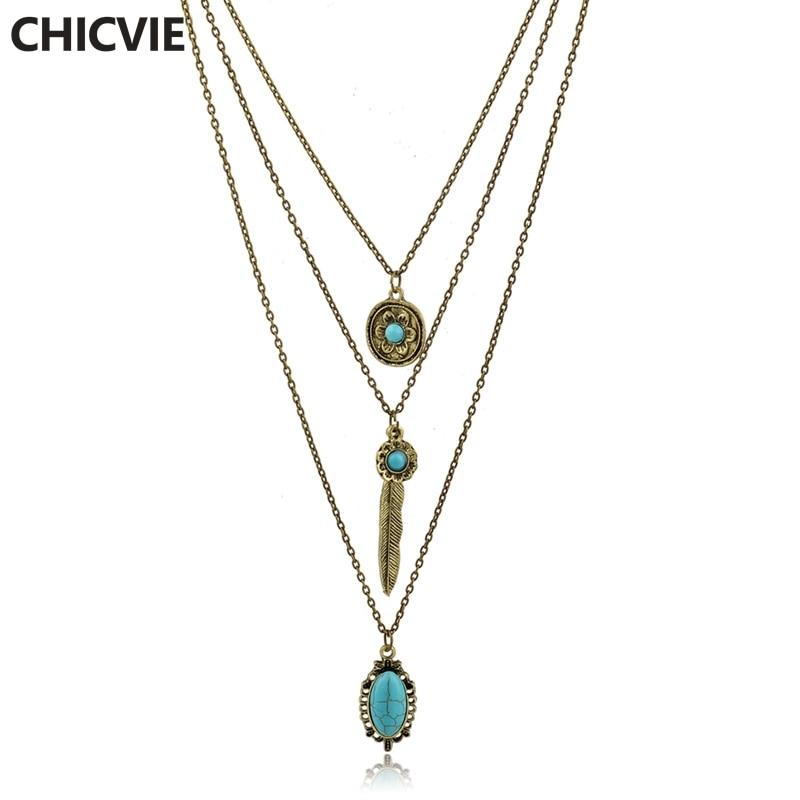 Купить chicvie винтажные простые цветочные античные ожерелья с листьями