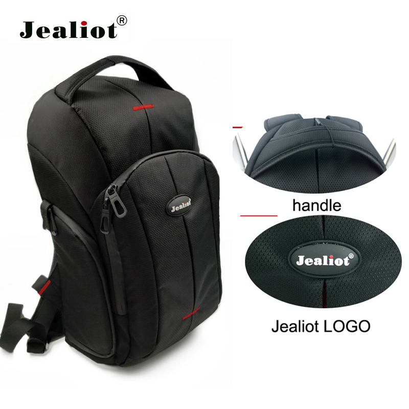 Jealiot waterproof DSLR Backpack Travel Camera Video Bag shockproof Photography for Nikon Canon Sony SLR Tripod Lens Accessories ecosusi men multifunctional backpack for dslr shockproof waterproof camera rucksack backpack travel bag for canon eos 100d nikon