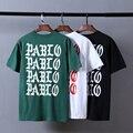 Camisa de T Dos Homens Kanye West Yeezy Verão Eu Sinto Como Pablo Temporada 3 Tee Yezzy Skate 100% Algodão de Alta Qualidade Hip Hop T-shirt Top