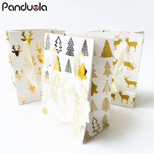 Christmas wrapping Snowflake Merry Paper Bag  Tree Cookie Gift Packing Birthday Party Favor gift bags