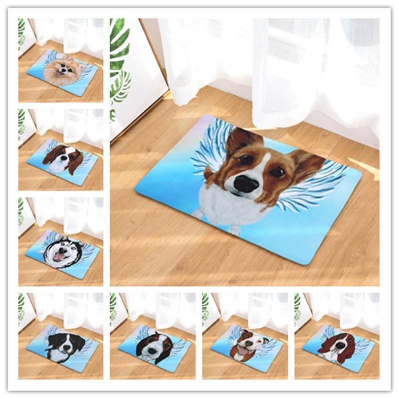 New Welcome Floor Mats Dog Printed Bathroom Kitchen