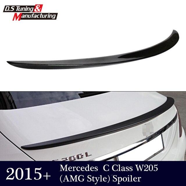 Mercedes W205 AMG Style Spoiler for C Class W205 4 door 2015+ Carbon Fiber Tail Rear Trunk Spoiler Wings amg mercedes c class dtm 2008 с двигателем г киев