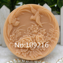 New Product!! 1pcs Flying Bird of Wonder (ZX290) Food Grade Silicone Handmade Soap Mold Crafts DIY Silicone Mould